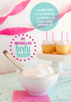 DIY Body Butter-Whipped Vanilla Birthday Cake - Just remember that vanilla fragrances will turn your product brown over time! The more vanilla in the fragrance the darker brown it will be.