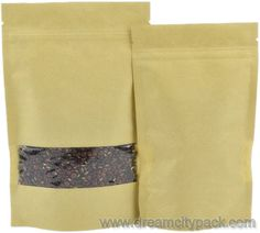 Stand up Kraft Paper Ziplock Bag Wholesale Wholesale Bags, Kraft Paper, Stand Up, Packaging, Gifts, Accessories, Get Back Up, Presents, Wrapping