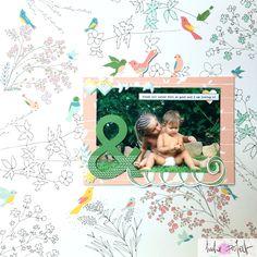 ¡Hola de nuevo!     Lo prometido es deuda. Si ayer te decía que te presentaba a Laia (y el layout que le había hecho con una de mis colecci...
