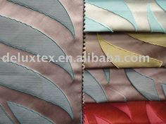 Jacquard poly silk fabric for home textile