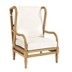 Ceylon Teak Wingback Occasional Chair