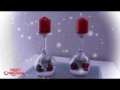 DIY - CANDELABRO NAVIDEÑO FÁCIL CON COPAS / RECICLANDO - YouTube At Home Workout Plan, At Home Workouts, Workout Plans, All Things Christmas, Christmas Ideas, Craft Work, Home Decor Inspiration, Diy Home Decor, Easy Diy