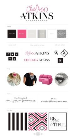 Logo and Website Design :: Chelsea Atkins Photography - Saffron Avenue : Saffron Avenue