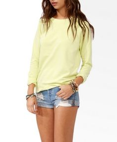 French Terry Burnout Pullover | FOREVER 21 - 2031587848
