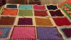 chunky blanket using stylecraft chunky yarn Chunky Blanket, Chunky Yarn, Scrap, Crochet, Tat, Crochet Crop Top, Chrochet, Knitting, Haken