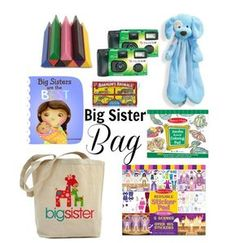 A busy bag for the big sibling at the hospital. I& definitely making this for Sienna :) Big Sister Bag, Big Brother Gifts, Sister Day, Big Sisters, Big Sibling Gifts, Minis, Preparing For Baby, My Baby Girl, 2nd Baby