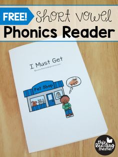 FREE Short Vowel Phonics Reader and Activities from Learn to Read - This Reading Mama