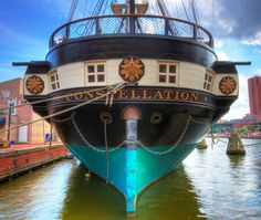 USS Constellation in Baltimore.