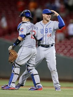 Kyle Schwarber, Anthony Rizzo, CHC // July 2015 at CIN