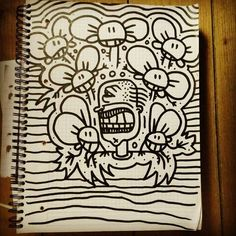 #sketch on #paper with a #marker #pen / some kind of #handcraft #drawing #art ... #Instagram