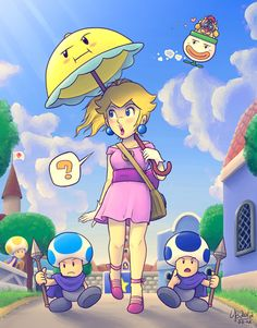 A stroll in Toad Town by =TheBourgyman on deviantART