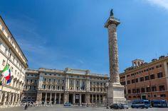 Plaza Colonna y la Columna de Marco Aurelio #roma #viajar #italia