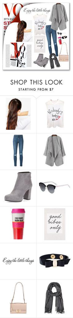 """Good vibes only"" by grachyv on Polyvore featuring ASOS, Paige Denim, Prada, Christian Dior, Kate Spade, Oris and Salvatore Ferragamo"
