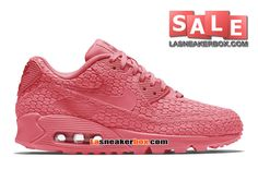 NIKE WMNS AIR MAX 90 CITY COLLECTION 2015 (NIKE ID) - CHAUSSURES NIKE SPORTSWEAR PAS CHER FEMME/FILLE Explosion rose/Explosion rose 813152-614