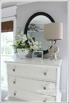 Chest of drawers!! Nice if you paint drawers different colour, like grey with nice christal knobs!! A must do