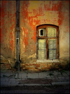 Perfect place for taking pictures! Old Windows, Arched Windows, Windows And Doors, Through The Window, Through The Looking Glass, Old Doors, Doorway, Door Knobs, Stairways