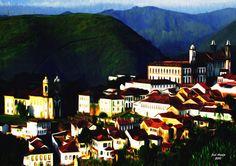 Digital Painting - Title of the Work: Ouro Preto - Minas Gerais - Brazil