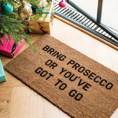 Are you interested in our christmas gift for house? With our prosecco doormat gift for her you need look no further.