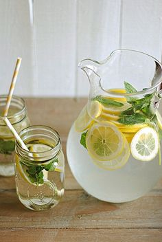 Great drink! When you are sick of plain water just grab some lemons and mint, mixed in water for one tasty drink!!!