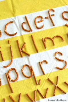 Making Letters of the Alphabet Using Pretzels - fun hands-on letter formation activity!
