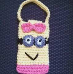 Despicable Me 2 Minion Inspired Cell Phone Case or Child's Bag or Purs | VibrantThings - Bags & Purses on ArtFire