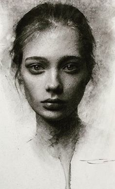 John Fenerov - Everything About Charcoal Drawing and Sculpture Portrait Sketches, Pencil Portrait, Art Drawings Sketches, Female Portrait, Portrait Art, Woman Portrait, Pencil Drawings, Charcoal Sketch, Charcoal Art