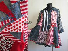 L/XL Trendy Plus Size Denim Tunic Plus Size Clothing Recycled