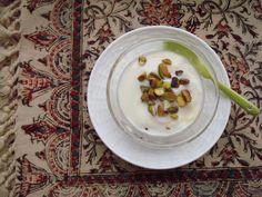 White-chocolate Mahlabi with Pistachio Cardamom Saffron & Orange-flower Water  www.fiddymentfarms.com