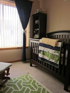 Navy blue and green alligator nursery, baby boy