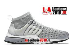 9f5c06c33f9ca Nike Air Presto Ultra Flyknit - Chaussures de Sports Nike Pas Cher Pour  Homme Gris loup Platine pur Blanc Noir 835570-002