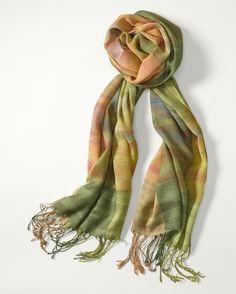 Prism plaid scarf  www.coldwatercreek.com