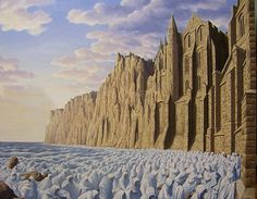 """Rob Gonsalves, """"Pilgrimage of the Tide"""" - original acrylic on canvas"""