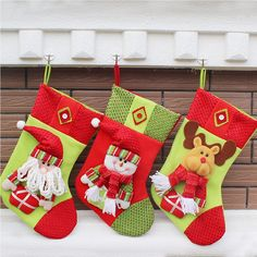 Christmas Decoration Tree Hanging Large Socks Bag Candy/Gifts Storage Bags