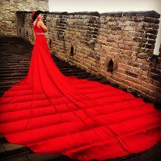 Wedding on the Great Wall of China  Omg amazing !
