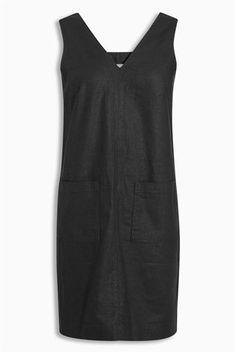 Buy Black Linen Blend Dress from the Next UK online shop
