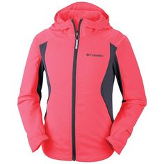 Columbia Sportswear Splash Flash Soft Shell Jacket (For Toddler Girls) Columbia Girls, Rain Gear, Columbia Sportswear, Columbia Jacket, Softshell, Diy Clothes, Hooded Jacket, Kids Outfits, My Style