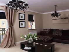 Neutral Living Rooms Design Ideas: Black Sofa Neutral Living Rooms ...