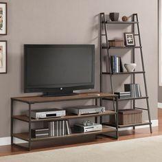 Resultado de imagen de muebles de television de hierro oxidado y cristal