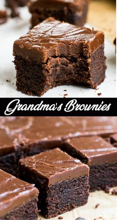A thick, moist and fudgy brownie topped with a fudge like frosting. A thick, moist and fudgy brownie topped with a fudge like frosting. Fudgy Brownie Recipe, Brownie Desserts, Brownie Frosting, Fudgy Brownies, Köstliche Desserts, Brownie Recipes, Cookie Recipes, Chocolate Frosting For Brownies, Cake Like Brownies