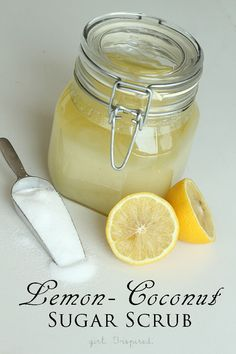 Lemon Coconut Sugar Scrub recipe from @Stefanie W Wee (Girl. Inspired.) #diy #beauty