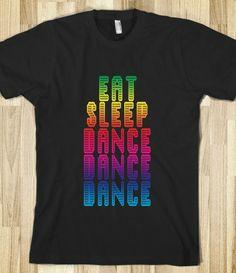 Eat Sleep Dance Dance Dance Retro Disco T Shirt - Dancing - Tops for women, men and children