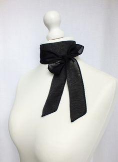 Black chiffon scarf foulard from BeLoved by DaWanda.com