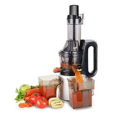 Cusimax CMSJ800S 240W Slow Juicer50 RPMs Quiet Fruit Vegetable Masticating Juicer for Highly Efficient Juice Extraction Sliver *** To view further for this item, visit the image link.