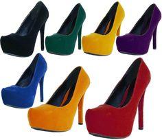 Sexy Platform High Heel Stilettos Pump Shoes Almond Toe Fashion Women Sandal #Qupid #PlatformsWedges