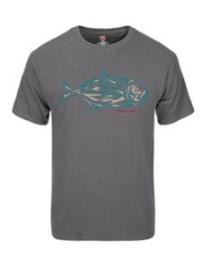 Tribal Fish Tee-Charcoal