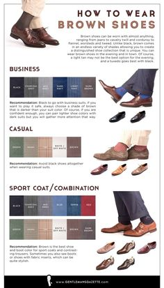 How To Wear Brown Shoes Infographic