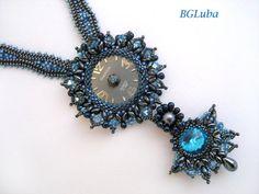 Beaded jewelry Beadwork necklace Seed bead от BeautyGlamourLuba