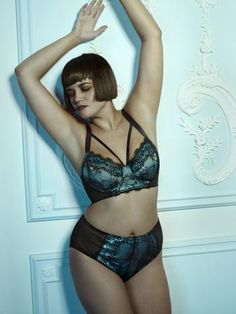 Irena Teal Satin and Lace 32-36 DD-H Bra b40b09456