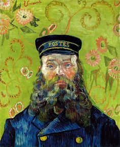 Vincent van Gogh - The Postman (Joseph Etienne-Roulin), 1889 at the Barnes Foundation Philadelphia PA  Also viewed at Van Gogh Repetitions Exhibit - Phillips Collection Art Gallery Washington DC