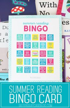 Summer Reading Bingo Printable for kids! #summer #kids #reading #books #freeprintable #bingo